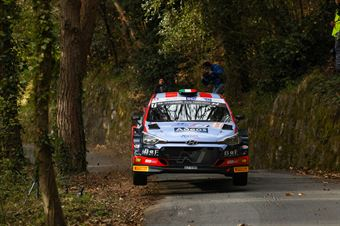 Andrea Crugnola. Pietro Ometto (Hyundai i20 #7), CAMPIONATO ITALIANO RALLY SPARCO