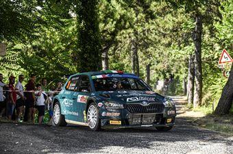 Alberto Battistolli Simone Scattolin, Skoda Fabia Evo RC2 #30, ITALIAN RALLY CHAMPIONSHIP SPARCO