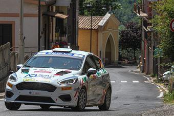 Francesco Lovati  Giacomo Ciucci, Ford Fiesta RC4 #100, ITALIAN RALLY CHAMPIONSHIP SPARCO