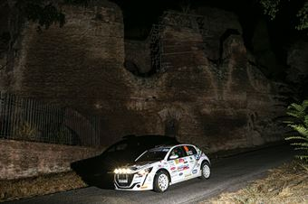 Lucchesi JR Titti Ghilardi, Peugeot 208 RC4 #105, ITALIAN RALLY CHAMPIONSHIP SPARCO