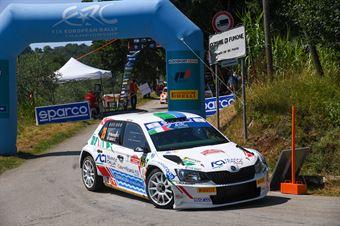 Andrea Mazzocchi Silvia Gallotti, Skoda Fabia RC2 #25, ITALIAN RALLY CHAMPIONSHIP SPARCO