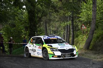 Marco Pollara Daniele Mangiarotti, Skoda Fabia RC2 #80, ITALIAN RALLY CHAMPIONSHIP SPARCO