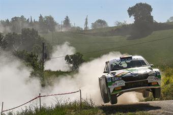 Bruno Bulacia Wilkinson, Marcelo Der Ohannesian, Skoda Fabia R5, #18, Meteco Corse, CAMPIONATO ITALIANO RALLY TERRA