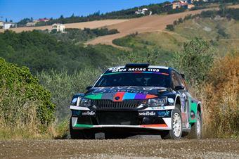 James Baldini, Barbara Bogoni, Skoda Fabia R5 #22, Hawk Racing Club, CAMPIONATO ITALIANO RALLY TERRA