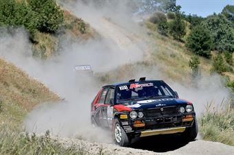 Lucky, Fabrizia Pons, Lancia Delta Integrale 16V #201, Team Bassano, CAMPIONATO ITALIANO RALLY TERRA STORICO