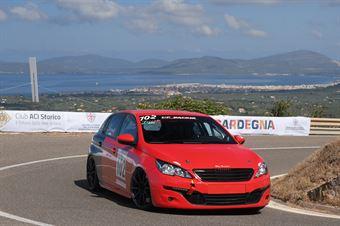 Angelo Loconte ( Epta Motorsport, Peugeot 308 GT #102), CAMPIONATO ITALIANO VELOCITÀ MONTAGNA