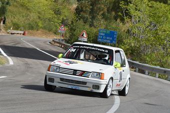 Sciuto Leonardo ( CAtania Corse, Peugeot 205 #104), CAMPIONATO ITALIANO VELOCITÀ MONTAGNA