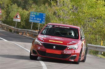 Marco Magdalone ( Scuderia Valle D'Itria, Peugeot 308 GTI #173), CAMPIONATO ITALIANO VELOCITÀ MONTAGNA