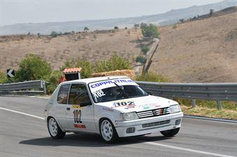 Luca Bellia ( Motor Team Nisseno , Peugeot 205 #102), CAMPIONATO ITALIANO VELOCITÀ MONTAGNA