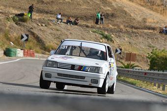 Mattia Bellia ( Motor Team Nisseno, Peugeot 205 #101), CAMPIONATO ITALIANO VELOCITÀ MONTAGNA