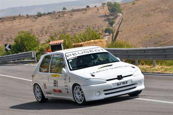 Filippo Cardillo ( Catania Corse, Peugeot 106 #81), CAMPIONATO ITALIANO VELOCITÀ MONTAGNA
