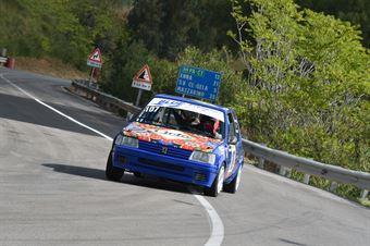 Manfredo Raimondi ( Motor Team Nisseno , Peugeot 205 #107), CAMPIONATO ITALIANO VELOCITÀ MONTAGNA