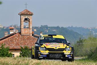 Ivan Ferrarotti Fabio Grimaldi, Skoda Fabia R5 #8, CAMPIONATO ITALIANO WRC