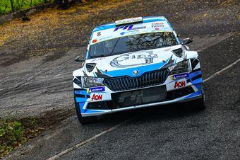 Alessandro Gino Daniele Michi, Skoda Fabia R5 #8, CAMPIONATO ITALIANO WRC