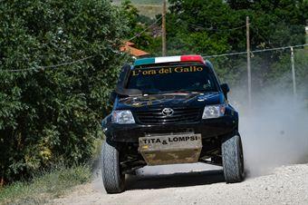 Sergio Galletti, Giulia Maroni, Toyota Hilux OverDrive T1 #301, R Team, CAMPIONATO ITALIANO CROSS COUNTRY E SSV