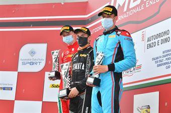 Podium rookie race 1, ITALIAN F.4 CHAMPIONSHIP POWERED BY ABARTH