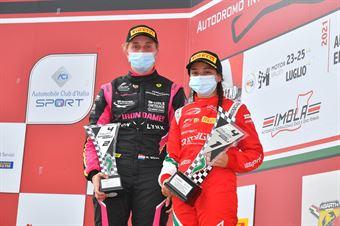 Women podium, ITALIAN F.4 CHAMPIONSHIP POWERED BY ABARTH