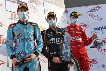 Podium F4 rookie race 3 , ITALIAN F.4 CHAMPIONSHIP POWERED BY ABARTH