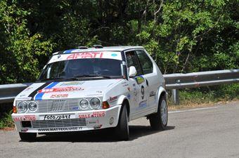 Luise Matteo Ferro Melissa, FIAT RITMO 130 TC #9, CAMPIONATO ITALIANO RALLY AUTO STORICHE