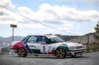 Matteo Luise, Fabrizio Handel (Subaru Legacy #5, TEAM BASSANO S.S.S.a.r.l), CAMPIONATO ITALIANO RALLY AUTO STORICHE