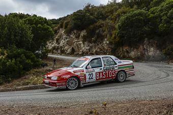 NOTHDURFTER ALFONS   NOLTE JUERGEN, FORD SIERRA COSWORTH 4X4 #22, CAMPIONATO ITALIANO RALLY AUTO STORICHE